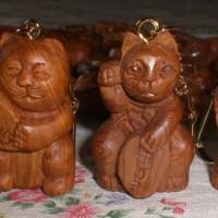 屋久杉 招き猫 キーホルダー