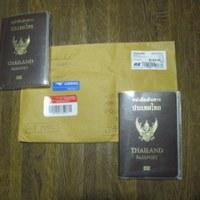 タイからパスポートが送られてきた