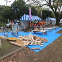 10月22日 本日は国立市環境フェスタでトントンコーナーの手伝いをしました