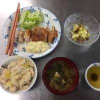 チキン南蛮とネギご飯