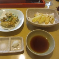 牡蠣と千住葱の天ぷら