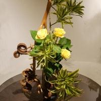 いけばな小原流展 華のおもてなし「白い秋」・・・・関根 華昌さんの作品