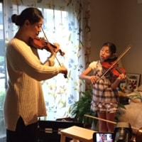 ヴァイオリンレッスン、始まりました!