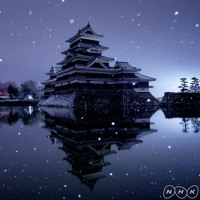 NHK撮るしん 雪の松本城