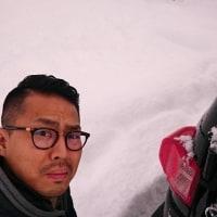 スタッフ全員で雪掻き!