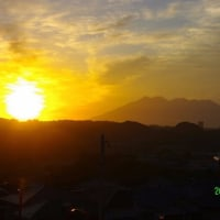 2017年5月27日、朝の桜島