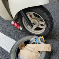 スクーターの出張タイヤ交換