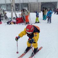 初めて、スキー