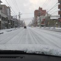 雪の一宮市内