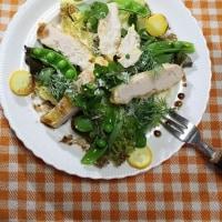 たっぷり野菜の鶏肉ピカタ