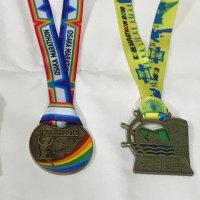 フルマラソンの完走メダル(神戸マラソン、大阪マラソン)