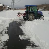 トラクター除雪