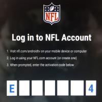 fireTV stickとNFL Game Passを連携させる方法、テレビ画面のパスコードをNFL.comのIDと連携させる