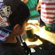 幼稚園のイベントへ~(^∇^)