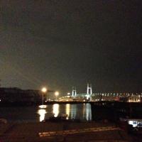 稽古後の港の夜景