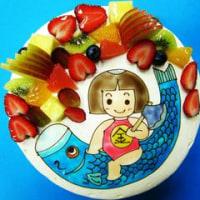 こどもの日☆こいのぼりと金太郎さんのデコレーションケーキ♪