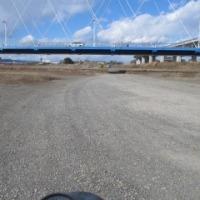 2017年初ダート走行は相模川の河原で