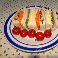 運動会シーズンに入り、今日はサンドイッチを作りました。