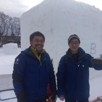 なよろ国際雪像彫刻大会ジャパンカップ開催。