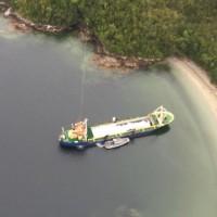 貨物船が座礁  チリー