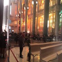 サグラダ・ファミリア聖堂の中