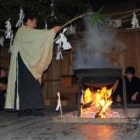 天龍村向方の湯立神楽(お潔祭)