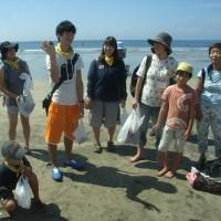 海辺で環境教育