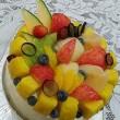 ★完熟パイナップルと桃のケーキ☆