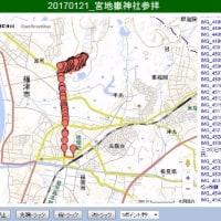 宮地嶽神社参拝(2017/01/21)~ルートマップと「2017・光の道」シミュレーション