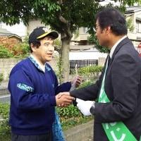 10月21日植本県知事候補は倉敷水島地域訴え