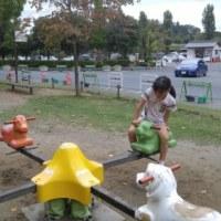 久々の公園。