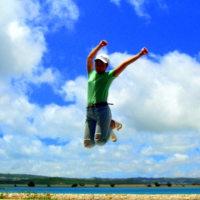 琉球大田焼窯元日常の事 ☆ 青空にジャンプ~♪(*^_^*)
