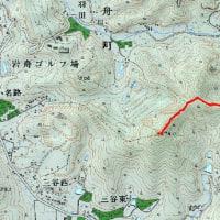 長坂峠から大明神山
