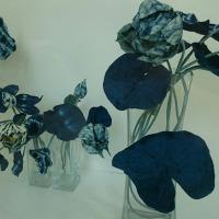 藍布の会 作品展行きました 藍の睡蓮