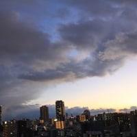 雲がすごかったので