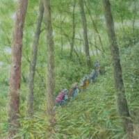 絵「緑の中を(2)」(完)