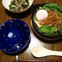 ジャージャー麺、それとも肉味噌・豆腐鍋?の夜(笑)