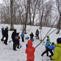 4月23日 よりこさんと「雪洞を掘ってみよう!」開催しました。