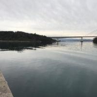 能登島水族館へ..能登島の風景