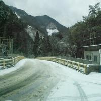 小島地区(小島橋の積雪状況)