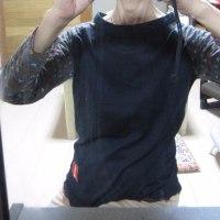 長袖Tシャツ型紙の補正
