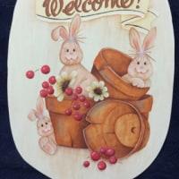 バニーと植木鉢のウェルカムサイン