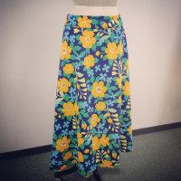 麻素材のスカート