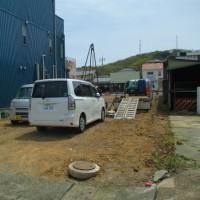 静岡市葵区 重量鉄骨3階建 地盤調査実施