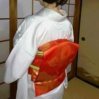 23日1件目の出張着付は岸和田市、お宮参りのお母様の訪問着です。