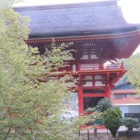 仁王門の様子と滝町寿会総会