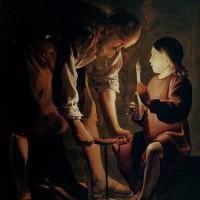ジョルジュ・ド・ラ・トゥールの『聖ヨセフ』っぽい!