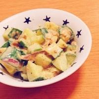 胡瓜とみょうがの味噌マヨ和え