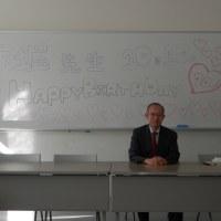 昨日(27日)演習Ⅲでの誕生日祝い感謝します。