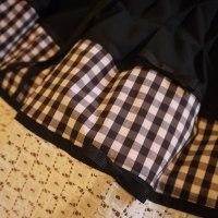 4種類の素材をつかった切り替えタックギャザースカート